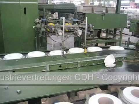 Becher- & Tassenherstellung - Die Jiggering Taktstrasse