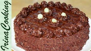 Знаменитый Рижский Торт Cielavina ○  Торт БЕЗЕ С ОРЕХАМИ и шоколадным кремом ○ Meringue Cake