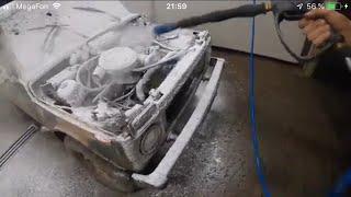 Топор в лобовом+мойка двигателя.