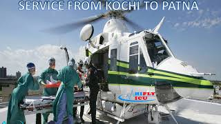 Get Book Minimal-Price Air Ambulance Service from Kochi to Patna