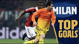 Some of the greatest goals against Italian teams in Milan