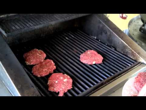 Grilling burgers on a TEC Infrared grill