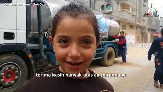 BETAPA BAHAGIA ANAK-ANAK GAZA DAPAT KEMBALI MERASAKAN AIR BERSIH