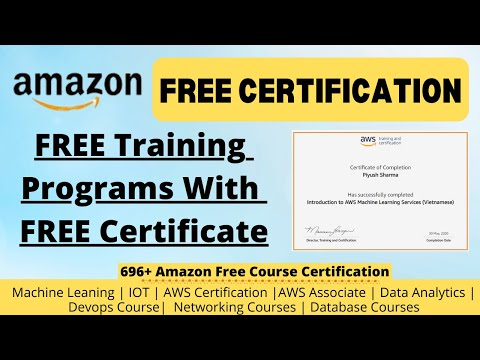 Amazon Free Certificate Course 2020 | AWS Certification Training in ...