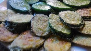 Жареные Огурцы. Как жарить свежие огурцы.Рецепт Огурцов