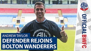 ON CAMERA Watch Andrew Taylors first interview with Wanderers official YouTube channel