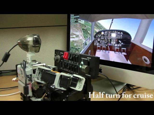 Корейские ученые создали робота, способного управлять самолетом