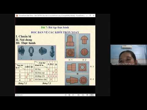Bài tập thực hành - Đọc bản vẽ các khối tròn xoay