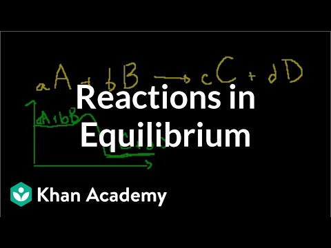 Reactions in equilibrium (video) | Khan Academy