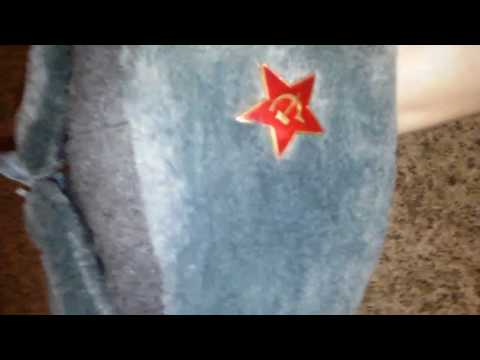 Russian soviet army ushanka hat unboxing