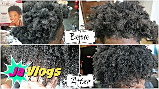 She Got A Texturizer😯 4C Hair   Silk Elements Texturizer   Family Vlogs   JaVlogs