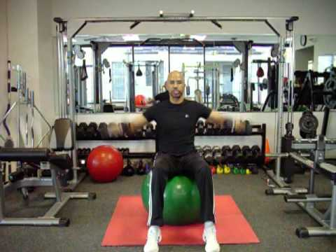 Side Lateral Raise on Exercise Ball -Shoulders-