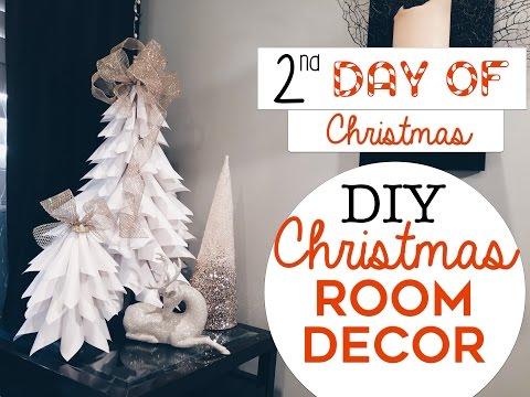 3 EASY Christmas Room Decor DIY's | 2nd Day of Christmas! | DIY Christmas Trees for Small Spaces