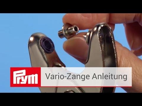 Die Prym Vario-Zange | Anleitung zur Druckknopf-, Ösen- und Nietenzange
