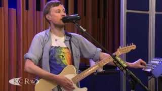 "Django Django performing ""Waveforms/Drumforms"" Live on KCRW"