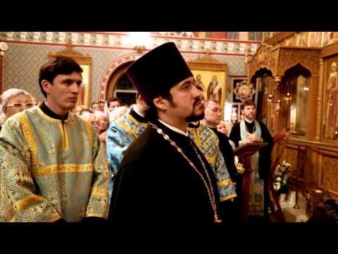 Приветствие митрополита Меркурия настоятелю и прихожанам храма по завершении Всенощного бдения накануне престольного праздника