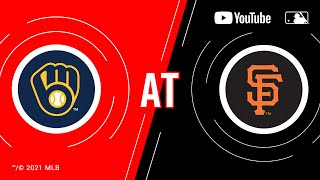Brewers at Giants | MLB Game of the Week Live on YouTube