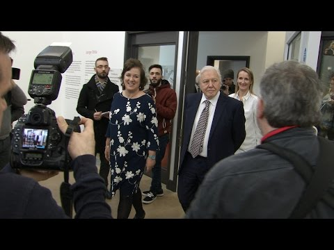 Sir David Attenborough Opens New Gallery Wing at Attenborough Arts Centre