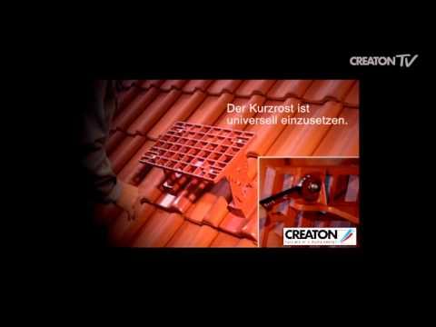 Montage Kurztritt beim Tondachziegeln von CREATON