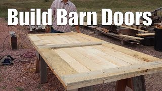 Building Barn Doors For The Timber Frame