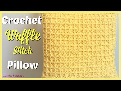 Crochet Waffle Stitch Pillow Cover