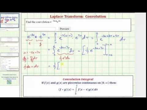 Ex Find The Convolution Of Two Exponential Functions Math Help