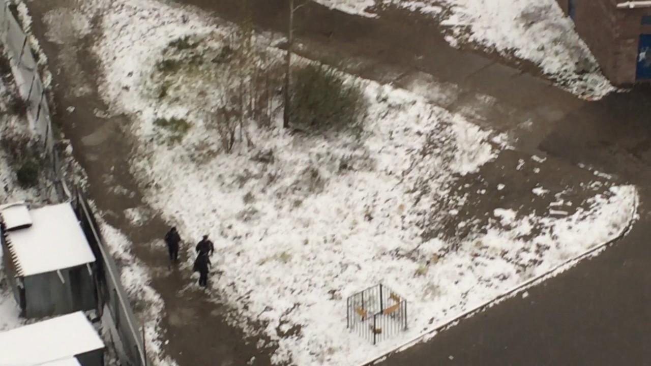 Драка футбольных фанатов в городе Раменское