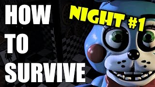 How To Survive And Beat Five Nights At Freddy's 2 | Night One | PC GUIDE