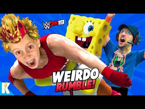Weirdest Royal Rumble EVER! (Evil KidCity, FGTEEV Duddy & Spongebob) in WWE 2k19 | KIDCITY GAMING