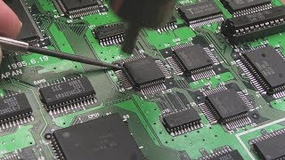 SNK Neo Geo MVS Junk Board Repairs Part 4 (MV-1A Fixing Neo-Buf Chips - Z80 Error From Hell Fixed)