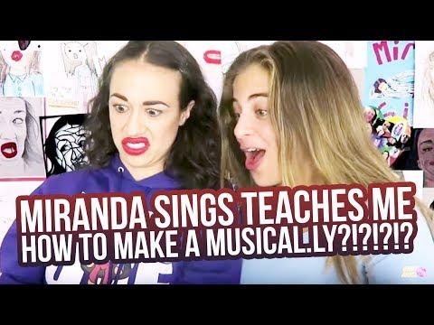 MIRANDA SINGS TEACHES ME HOW TO MAKE A MUSICAL.LY?!?!?!?