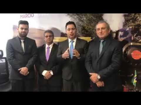 Prefeito Ayres Scorsatto em Brasília com o Deputado Federal Márcio Alvino