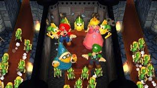 Mario Party 9 Step It Up - Peach vs Mario vs Luigi vs Kamek Master Difficulty  Cartoons Mee