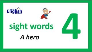 A HERO / english sight words stories 4