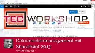 Dokumentenmanagement mit SharePoint 2013