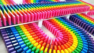 COLORFUL Rainbow Dominoes! | Satisfying Domino Screen Link