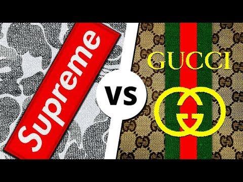 SUPREME vs GUCCI