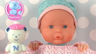 Poupée Nenuco Mon Premier Rhume Malette médicale Bébé a le nez qui coule