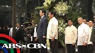TV Patrol: Japan PM Abe, nakipagpulong kay Duterte sa Malacañang