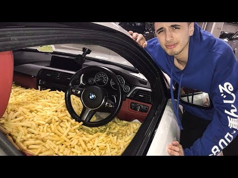 FILLING CHIPS CAR WITH CHIPS PRANK!!!