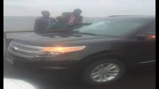I didn''t jump into Lagoon, says owner of viral Ford car- VIDEO