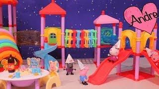 Peppa Pig hace fiesta de cumpleaños para George | Muñecas y juguetes con Andre para niñas y niños