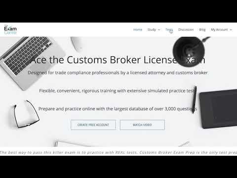 The Online Customs Broker Exam Prep Course - YouTube