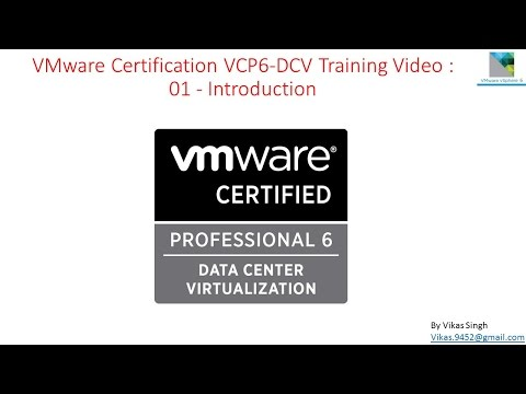 VMware Certification VCP6 (DCV) Training - 01 Introduction ...