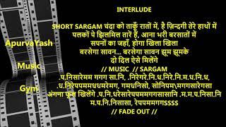 Aaoge Jab Tum Ho Sajana Karaoke Lyrics Scale Lowered