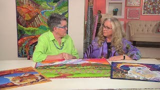 Susan Brubaker Knapp interviews Luana Rubin about her Quilts with Meaning on Quilting Arts TV #2211.