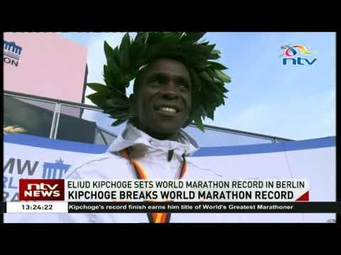 Eliud Kipchoge sets World Marathon record in Berlin.
