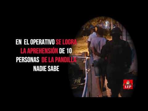Capturan a 10 pandilleros en Samaria