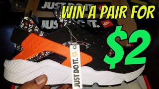 "NIKE AIR HUARACHE RUN ""JUST DO IT"" DETAILED SNEAKER REVIEW + WIN A PAIR OF HUARACHE FOR $2!!"