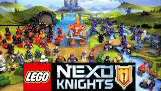LEGO Nexo Knights минифигурки из мультфильма. ЛЕГО Каменные и Лавовые монстры